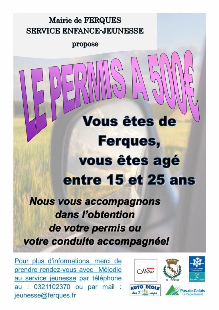 Read more about the article Le permis pour 500 euros : c'est parti !