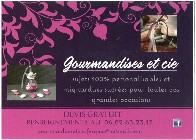 Photo Carte de Visite Gourmandises et Cie