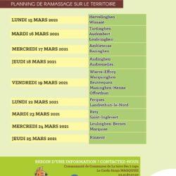 Ramassage des encombrants le 22 mars