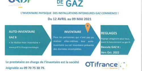Changement de gaz : L'inventaire des appareils alimentés au gaz naturel obligatoire entre le 12 avril et le 9 mai